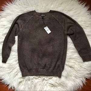 NWT Sparkly Brown Express Sweater